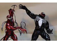 spiderman carnage & spiderman venom movie figure/statue