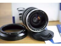 Zeiss 28mm f2 ZF.2 Nikon mount; boxed and Mint- condition