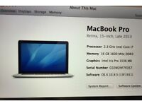 MacBook Pro 2.3ghz quad core i7 500gb late 2013