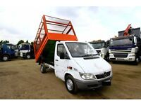 2006 56 PLATE MERCEDES SPRINTER 308 CDI CAGE TIPPER MWB FORD TRANSIT TIPPER CAGE FOR SALE LONDON