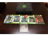 Microsoft Xbox with 2 controllers, mod chip & 27 games