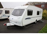Ace Jubilee Courier 2009 6 Berth Fixed Bunk Beds Caravan + Full Awning