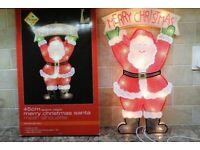 illuminated Christmas decorations Santa Snowman Tree X4 Job Lot
