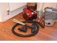 household cleaning kit including Logik vacuum cleaner and bucket, mop, brush etc set