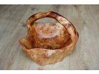 New teak bowl with handle