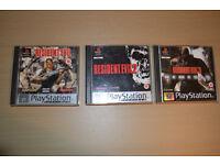 Resident Evil 1,2,3 For PlayStation 1
