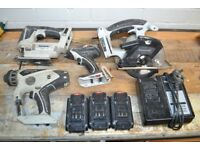 Panasonic 14.4v Impact driver, jigsaw, sds drill, circular saw, 3 batteries and charger