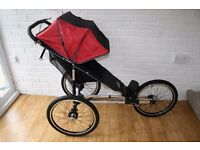 Baby Jogger Performance Classic running buggy black /red + footmuff CAN POST