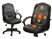 Electric Heated Back Seat Massager Massage Chair Cushion Remote Control Car Home