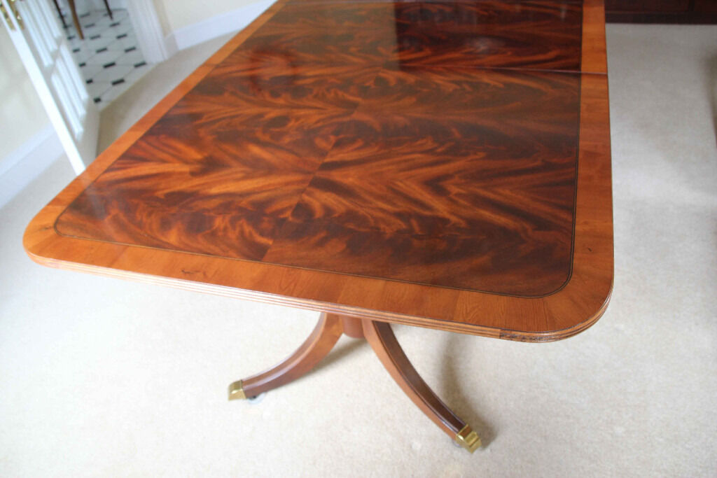 Double Pedestal Mahogany amp Yew American Dining Table by  : 86 from www.gumtree.com size 1024 x 683 jpeg 86kB