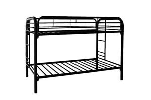 LORD SELKIRK FURNITURE - Metal Single / Single Bunk Bed Frame in Black* or White**