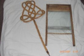 Vintage Washboard and Carpet Sweeper