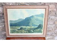 "Large Framed Vintage Print - 64x52cm ""Connemara ""Joyces Country"" by J. H. Craig RHA Irish Ireland"