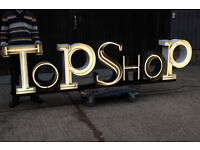 Large illuminated Neon Light Sign from Shop ideal for decor or mancave