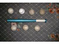 Rounders bat & balls