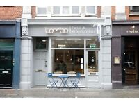 tea barista & cafe staff for stylish matcha & poke sushi cafe in Soho