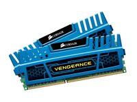 CORSAIR Vengeance 8GB 2x4GB RAM Memory DDR3 CMZ8GX3M2A1600C9B 1600MHz BLUE