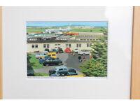 Nicely Framed Vintage John Hinde Original Postcard Shannon Airport, Ireland 1960's Aviation