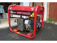 Briggs & Stratton BSP 3200L petrol, complete with output lead & plug, perfect conditionon