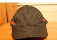 Black GUCCI Snapback Hat Cap: Unisex New with tags
