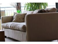 Large 3 seater sofa bed 100% linen