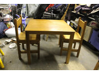 John Lewis - Children's table and two chairs
