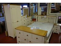 NEW Cream & country oak bedside cabinet only £99 VIEW TODAY