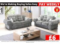Brand New Half Price Fernando Sofas - From only £6 a week