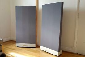 Quad ESL 989 Electrostatic Floorstanding Speakers Grey Silver Floor standing £1250