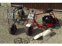 Pair of 1961 Trojan Trobikes (Mini bikes, monkey bikes, micro bikes)