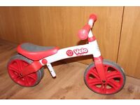 Y Velo Junior Balance Bike - Suitable for children from 18 months to 4 years