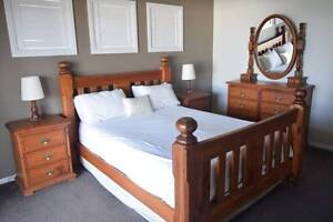 *** Wood Inc. Design *** 5pc Timber Farmhouse Queen Bedroom Suite Shell Cove Shellharbour Area Preview