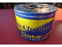 50 Blank DVD-R Datawrite Brand Printable (New)