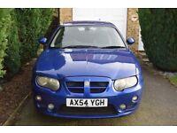 MG ZT+ V6 190 Blue 4 door saloon petrol car.