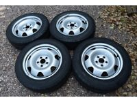 "Genuine 17"" VW Transporter Van Steel Wheels T5 T6 215/60R17C Continental Tyres Commercial Load Rated"