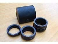 ***Reduced***Pentax Asahi Corp M42 extension tubes and case now only £15 ono