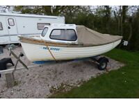 Day boat, fisher. 14' sturdy GRP, open cuddy.