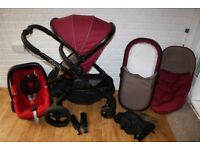 iCandy Peach 3 (2016 Claret) pram complete travel system 3 in 1 CAN POST