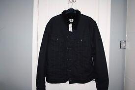 lee black fur lined sherpa jacket regular fit XL