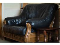 Two seater and Three seater Leather sofas.