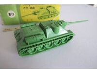 Tank T-34-85 and Tank CY-100 M 1:87