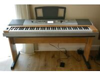 Yamaha DGX 630 Portable Grant piano with pedal and stand - excellent condition