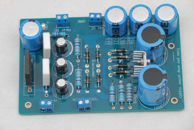 1set Gold plated tube preamplifier HVDC285V Powr supply PCB assembled