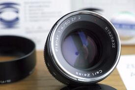 Zeiss 50mm 1.4 ZF.2 Nikon mount; boxed and Mint condition