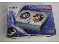 Foot Massager Pleaser Electric with infrared warmth used twice in box