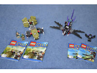 Lego Chima Razcal's Glider 70000 & Crawley's Claw Ripper 70001