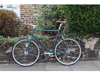 NEW IN!! !!! Steel Frame Single speed road bike fixed gear racing fixie bicycle HUIJ90