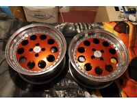 "One off set 17"" 4x100 Alfra Romeo 3peice Splitrims with Tyres"