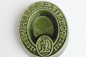 Vintage Pub Ashtray Whitbread & Co Est 1742 Brewania Home Bar Decor Ceramic / Pottery