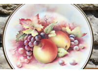 Vintage Decorative Display Plate Royal Vale - Fruit Design Grape Apple Cabinet